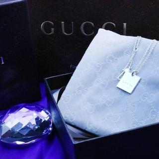 グッチ(Gucci)の☆新品☆未使用☆Gucci グッチ スクエアタグ ネックレス(ネックレス)