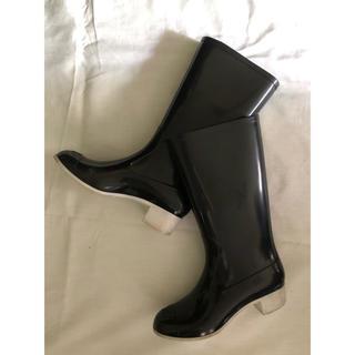 シャネル(CHANEL)のシャネル CHANEL のレインブーツ 長靴 ブラック(レインブーツ/長靴)