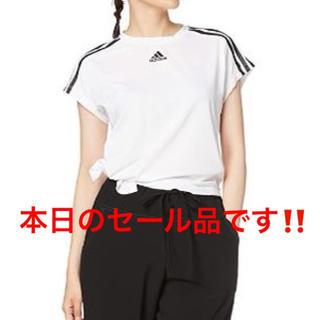 アディダス(adidas)のアディダス サイズタイ レディース Tシャツ(Tシャツ(半袖/袖なし))