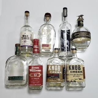 アメリカン ウイスキー バーボン 空瓶 8本セット(ウイスキー)