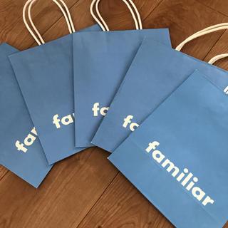 familiar - ファミリア 紙袋 5枚セット