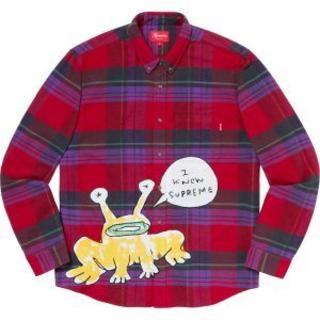 Supreme - 定価以下‼Plaid Shirt Red M