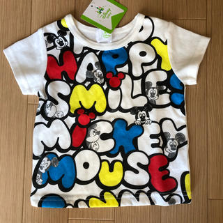 ディズニー(Disney)の新品タグ付き ミッキーTシャツ 60〜70cm(Tシャツ)
