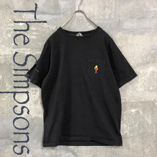 シンプソン(SIMPSON)の The Simpsons 半袖 Tシャツ バート ブラック M メンズ(Tシャツ/カットソー(半袖/袖なし))
