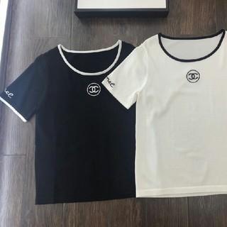 シャネル(CHANEL)の新品ニットトップ  レディース半袖Tシャツ(Tシャツ(半袖/袖なし))