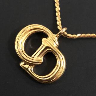 クリスチャンディオール(Christian Dior)の極美品 クリスチャンディオール  ヴィンテージ  ロゴ ネックレス(ネックレス)