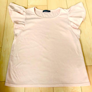 イング(INGNI)のTシャツ カットソー 袖フリル ピンク INGNI(Tシャツ(半袖/袖なし))