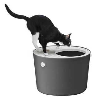 ☆バカ売れ☆上から入る猫トイレ グレー(猫)