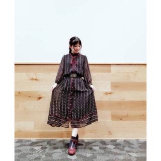 axes femme - 【美品】axes🌻花柄ストライプシフォンワンピース