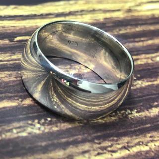 甲丸ラウンドシルバー925 リングシンプル幅広ワイドSILVER925銀指輪(リング(指輪))