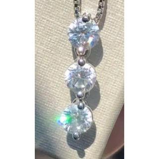 ダイヤモンドネックレス プラチナ トリロジー