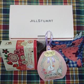 JILLSTUARTの箱&紅茶&タオルハンカチ(その他)