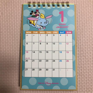 Disney - ディズニー 卓上 カレンダー 2020 ミッキー ミニー レトロ