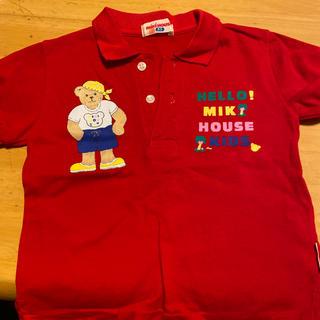ミキハウス(mikihouse)のミキハウス MIKI HOUSE レア♡ ポロシャツ くま 赤(Tシャツ/カットソー)