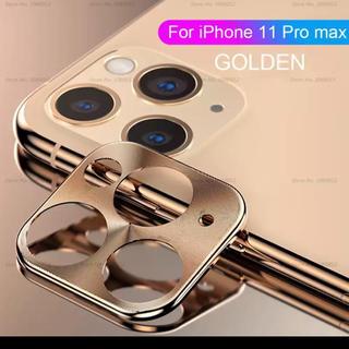 カメラカバー 新品 iPhone11Pro/11Promax用 ゴールド