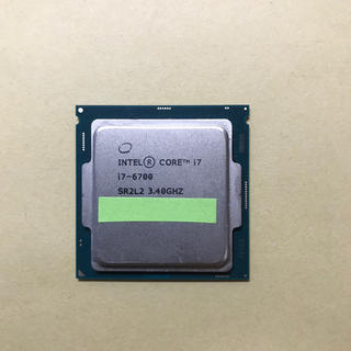 Intel CPU Core i7-6700 3.40GHz 作動確認済(PCパーツ)