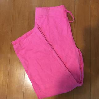 可愛いピンク色にキュンとしたイージーパンツ 古着(その他)