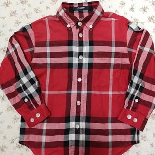 バーバリー(BURBERRY)の美品!バーバリーのチェックシャツ 110☆キッズ(ブラウス)
