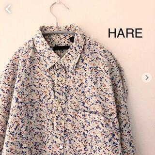 ハレ(HARE)のHARE 花柄七分袖シャツ Sサイズ ハレ(シャツ)