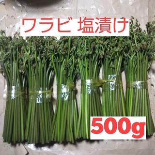 ワラビ 塩漬け 500g(野菜)