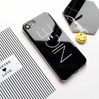 ツヤツヤ スマイル iPhoneケース ブラック //aub