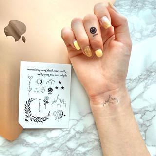 タトゥーシール 【シンプル】 韓国 消えるタトゥー