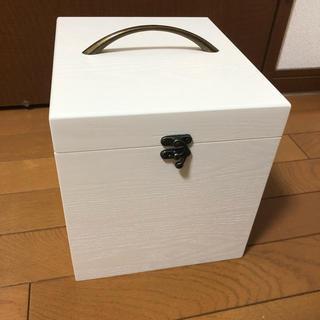 コスメボックス 木製 白色(ドレッサー/鏡台)