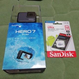ゴープロ(GoPro)のGoPro HERO7 SILVER MicroSD128GB付(コンパクトデジタルカメラ)