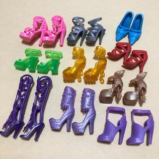 Barbie - バービーサイズ シューズ10足セットG ブライス ルルベちゃん 靴 資材 パーツ