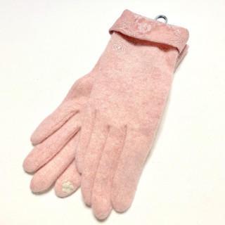 クレイサス(CLATHAS)の新品 レース ピンク ニット 手袋(手袋)
