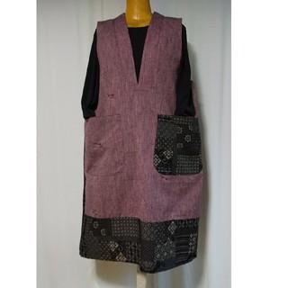 着物リメイク/袖なしチュニック(着物)