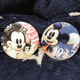 ディズニー(Disney)のミッキー缶バッジ(キャラクターグッズ)