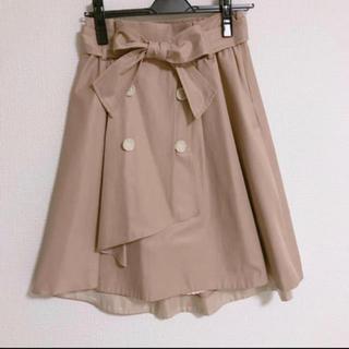 ウィルセレクション(WILLSELECTION)のウエストリボン トレンチスカート(ひざ丈スカート)