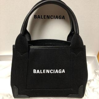 Balenciaga - バレンシアガ ネイビーカバ S トートバッグ キャンバス バッグ ブラック