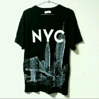 ザラ(ZARA)の新品 おしゃれ モード グラフィックデザイン Tシャツ トップス 半袖 NYC(Tシャツ/カットソー(半袖/袖なし))