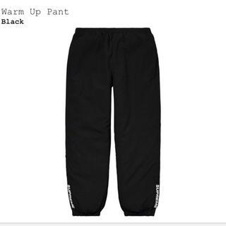 シュプリーム(Supreme)の【新品未使用】Supreme warm up pant sサイズ ブラック(その他)