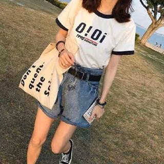 ディーホリック(dholic)の韓国ファッションoioi Tシャツ  カットソー ホワイト(Tシャツ(半袖/袖なし))