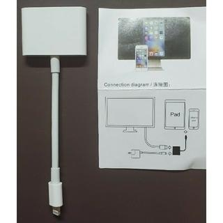 《便利》iPhoneライトニングケーブル用HDMI変換ケーブル(映像用ケーブル)