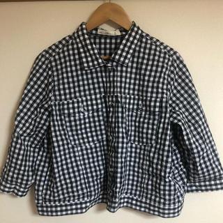アズノゥアズオオラカ(AS KNOW AS olaca)のシャツ ブラウス ギンガムチェック 大きいサイズ アズノウアズオオラカ 4L(シャツ/ブラウス(長袖/七分))