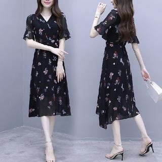 ザラ(ZARA)の韓国ファッション 花柄ワンピース ロング丈ワンピース 総柄ワンピース(ロングワンピース/マキシワンピース)