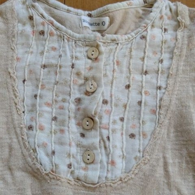 Biquette(ビケット)の女の子 カットソー 90 キッズ/ベビー/マタニティのキッズ服女の子用(90cm~)(Tシャツ/カットソー)の商品写真