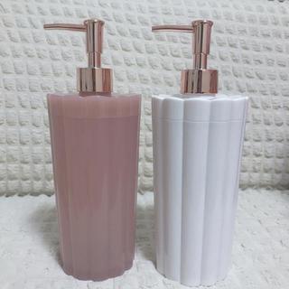 フランフラン(Francfranc)の【Francfranc】ディスペンサー ピンク ホワイト 2本セット(タオル/バス用品)