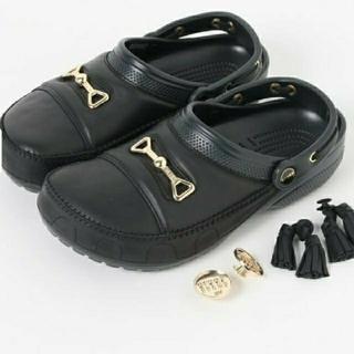 crocs - BEAMS 別注 サンダル crocs 28 BLACK ビット クロッグ