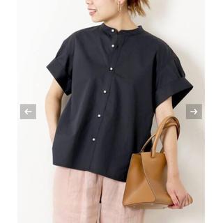 Spick and Span - 【新品タグ付】パールボタンタックスリーブシャツ
