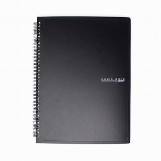 リング式 楽譜ファイル 書込みOK 60枚収納 黒 //bvk(その他)