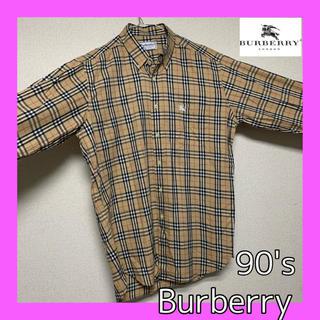 BURBERRY - バーバリー BURBERRY 90's ビンテージ  ノバチェックシャツ L