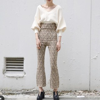 BEAUTY&YOUTH UNITED ARROWS - Leinwande Jacquard Knit Trousers ラインヴァンド