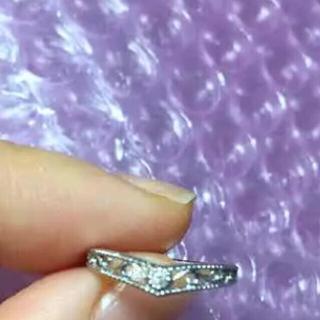 ジュエリーツツミ(JEWELRY TSUTSUMI)のk10wg ダイヤモンドピンキーリング(リング(指輪))