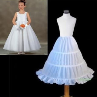 女の子 ドレス ワイヤー ボリューム パニエ カラースカート キッズ フリル(ドレス/フォーマル)