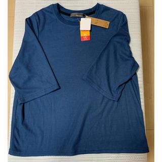 しまむら - 【大きいサイズ】3L  ワッフルTシャツ ブルー
